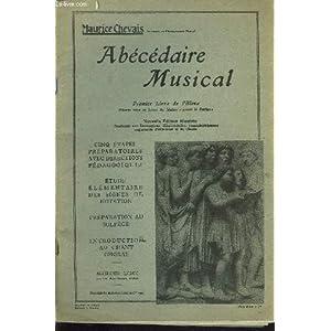 Abecedaire musical, premier livre de l'eleve, illustration sonore en trois disque microsillons