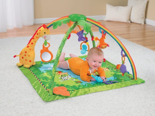 Fisher-Price费雪  热带雨林 宝宝音乐健身毯图片