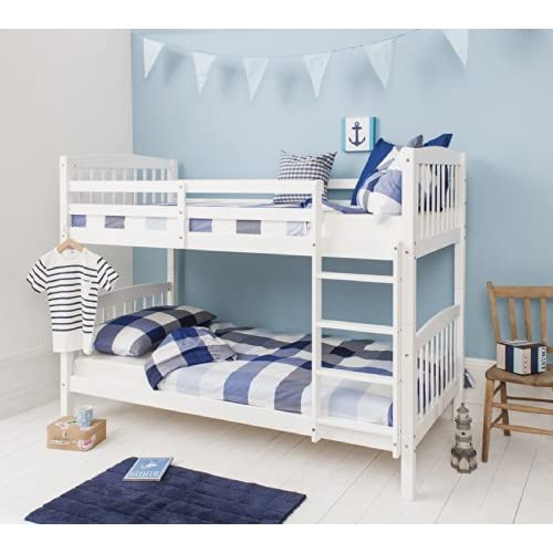 Bunk Bed Wooden Single White Pine Can be split into 2 singles Brighton