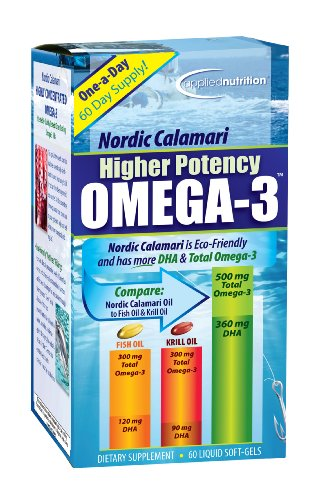 Applied Nutrition Nordic Calamari Higher Potency Omega-3, 60 Count