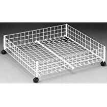 Storage White Wire Underbed Cart, 6.5 Inch H by 24 Inch W