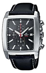 CASIO EF-509L-1AVEF Edifice - Reloj de cuarzo, correa de piel color negro (con cronómetro)