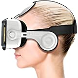 "Procus PRO (New) VR Headset - 100-120 Degree FOV with Highest Immersive Experience - Inbuilt Headphones - Best with 4.7""- 6"" Phones - Inspired by Google Cardboard and Oculus Rift - Virtual Reality Gear - Best Selling for K4 Note Lenovo, iPhone, Android Phones."