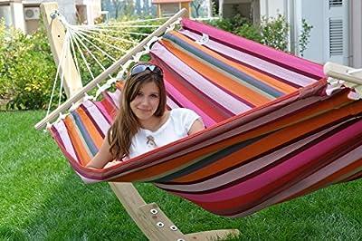 Lola Latina Stabhängematte rainbow hochwertig von Lola Hängematten - Gartenmöbel von Du und Dein Garten