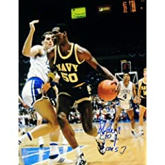 David Robinson Autographed Hand Signed NAVY 11x14 Photo - San Antonio Spurs