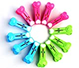 Pack of 12Pcs Plastic Cloth Laundry Clips Pegs (Assorted Colors)