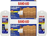 Band-Aid Adhesive Bandages Flexible Fabric All One Size 1 X 3 100 Count Pack of 2