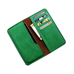 i-KitPit : PU Leather Wallet Flip Pouch Case For Karbonn S5 Titanium (GREEN)
