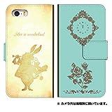 スマホゴ [iPhone 5c] アイフォン5c 手帳型 カード収納付き スマホケース 0178-B. 白ウサギ