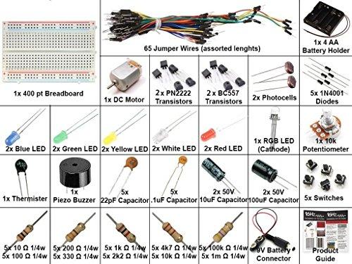 16Hertz Electronics Project Starter Kit w/ Breadboard, Jumper Wires, LED, Resistors, Motor for Arduino & Raspberry Pi (16 Hertz Starter Kit compare prices)