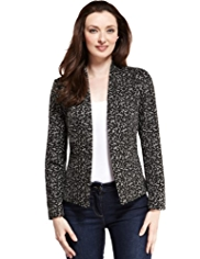 M&S Collection Animal Print Open Front Jacket
