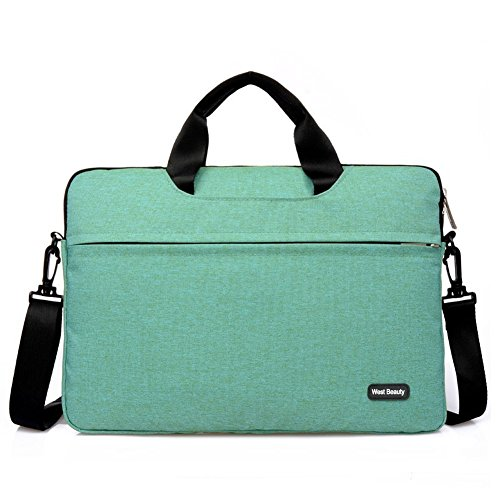 04. West Beauty 15-15.6 Inch Shockproof Waterproof Computer Laptop/Notebook/Tablets/MacBook Messenger Bag Carry Case Sleeve (Green)