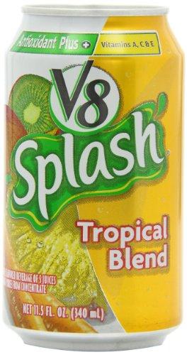 V8 Splash Tropical Blend Juice Drink, 11.5 Ounce Cans (Pack Of 6) front-793009