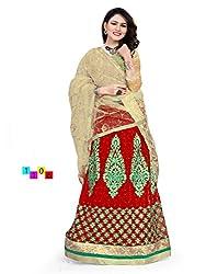 Shubhlaxmi Fashions Women's Net Lehenga ( Red )