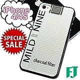 iPhone4/4S ケース タバコ パロディ ハードカバー MILDNINE