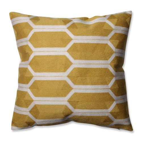 "Pillow Perfect Graphic Detail Citron Throw Pillow, 16.5"""