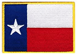 Texas State Flag Embroidered Patch Iron-On TX Lone Star Emblem