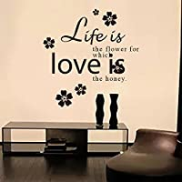 """""""Life is the flower for which love is the honey"""" DIY Removable Wallpapers for Wall Decoration by Mustbe"""