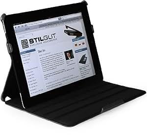 StilGut UltraSlim Case für iPad 3 und iPad 4 mit Stand- und Präsentationsfunktion, Schwarz