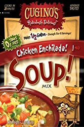 Cugino\'s, Gourmet Foods, Ridiculously Delicious Soups, Chicken Enchilada Soup, 7.1oz Pouch (Pack of 2)
