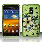 Samsung Epic 4G Touch Galaxy S II D710 Accessory – Green Hibiscus Hawaii Flower & Vines Design Protective Hard Case Cover for Sprint