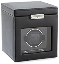 Wolf Designs 457156 Roadster Collection Module 2.7 Single Watch Winder with Cover and Storage