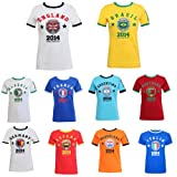 Womens World Cup 2014 Football Soccer T-Shirt Ladies Size