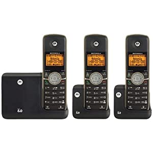 MOTOROLA L513BT DECT 6.0 CORDLESS PHONE SYSTEM WITH BLUETOOTH(R) TECHNOLOGY, CALLER ID & DIGITAL ANSWERING SYSTEM (3-HANDSET SYSTEM)-MRAL513BT
