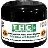 Pain Relief Cream W/Full-Spectrum Rich Hemp Extract- (300mg+ 45mg CBC,CBG) + Organic MSM, Arnica, Turmeric & Boswellia (300mg) (Tamaño: 300mg+ 45mg CBC,CBG)