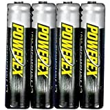 Powerex AAA 1000mAh Rechargeable NiMH Batteries - 4 Batteries Per Pack