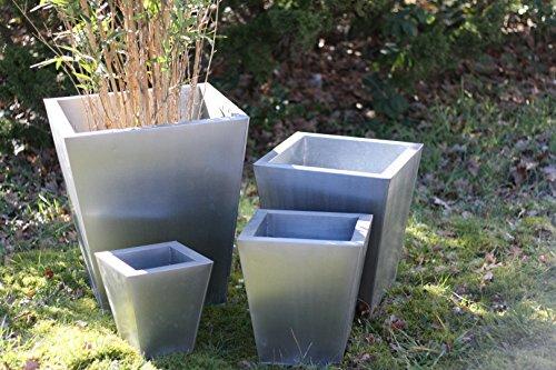SET-4er-SET-Pflanzkbel-Silber-Zink-ZINK-Square-Plain-SET-of-4-rund-L-cm-B-cm-H-70-cm