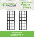 2 Eureka HF-7 HEPA Filters, Designed To Fit Eureka HF-7 (HF-7) Series Uprights, Compare To Part # 61850, 61850A, 61850B, Designed & Engineered By Crucial Vacuum