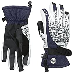 Roxy SNOW Junior's Merry Go Round Snow Gloves, Dixie Bright White, Large
