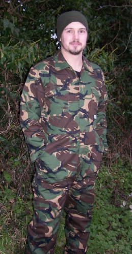 Blue Castle Camo Stud Fronted Boiler Suit 334 Camouflage Overalls for Paintball - XXLarge 52-54 - Camo