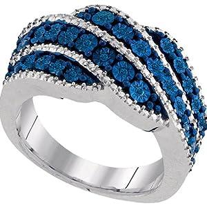 0.13Ctw Blue Diamond Fashion Ring
