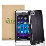 GreatShield TERRA Series Brushed Metal + PC Cover Case Skin for RIM Blackberry Z10 (Black / Black)