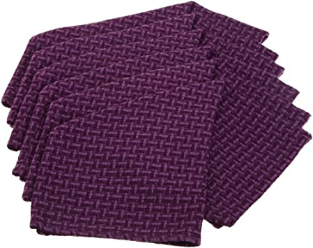 DII 100% Cotton Basics Heavyweight Essential Dishcloth, Set of 6, Eggplant