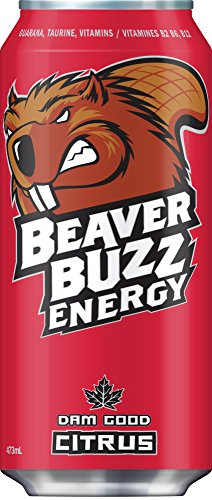 Canadian Beaver Buzz CITRUS Energy Drink - 16oz x 12pk (Buzz Aroma compare prices)