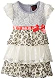 Girls Rule Little Girls Tiered Printed Lace Dress
