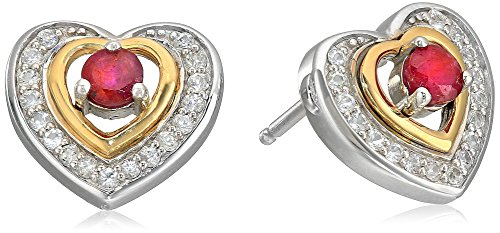 xpy-sterling-silver-and-14k-yellow-gold-heart-framed-ruby-and-white-sapphire-accent-stud-earrings