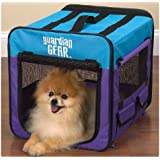 Guardian Gear Collapsible Dog Crate, Small, Pink/Green