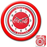 Trademark Coca-Cola 12-Inch Clock with White Neon - 1950s Style