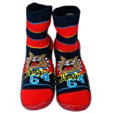 C2BB Baby boys Socks shoes with grippy rubber Bulldog Size 21 23