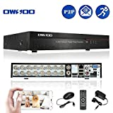 OWSOO 16 Channel DVR Full CIF H.264 P2P Network CCTV Security Phone Control Motion Detection Email Alarm for Surveillance Camera (Tamaño: 16CH)