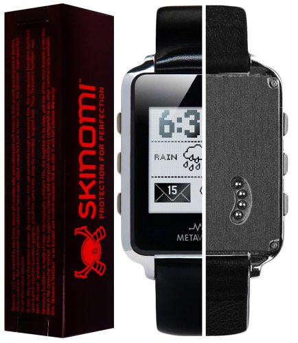Skinomi TechSkin - MetaWatch Frame Screen Protector + Brushed Steel Full Body Skin / Front & Back Premium HD Clear Film / Ultra Invisible and Anti Bubble Shield (Metawatch Frame compare prices)