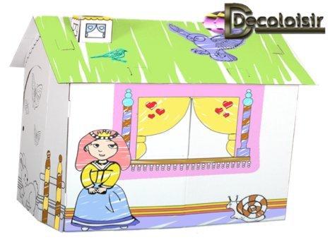 maison-princesse-en-carton-a-peindre