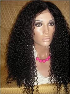 Virgin Indian Remy Kinky Curly Lace Front Wig Grade AAA