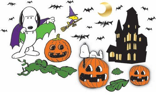 Eureka Peanuts Halloween Bulletin Board Set, 46 Reusable Punch Out Pieces front-896454