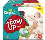 Easy Up Pants (size 4: 8-15 kg) - 1 Mega Box containing 90 nappies + Sensitive Baby Wipes (x 224) - Bonus Pack (4 x 56)