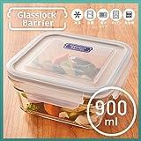 耐熱ガラス容器・ガラスロックバリア(900ml/スクエア)